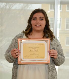 Emily Gielink, winner of the Currier Rising Junior Scholarship