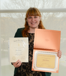 Holly Shively was inducted into the Kappa Tau Alpha honorary society and also won the Gerald D. Murray Scholarship, named for a former editor of The BG News.