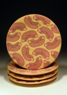 Hot Dog Plate Set