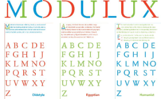 Modulux Font Family, 2007