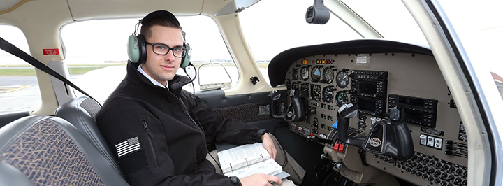 Air Force ROTC cadet takes flight