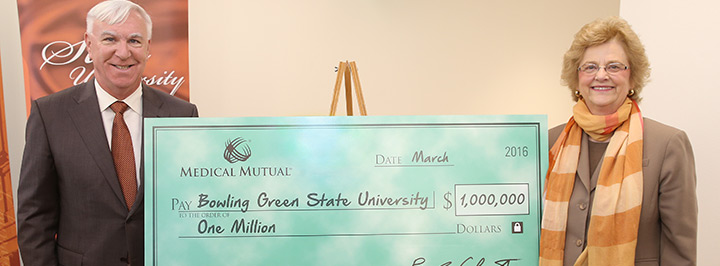 Medical Mutual contributes $1 million to BGSU's wellness initiatives