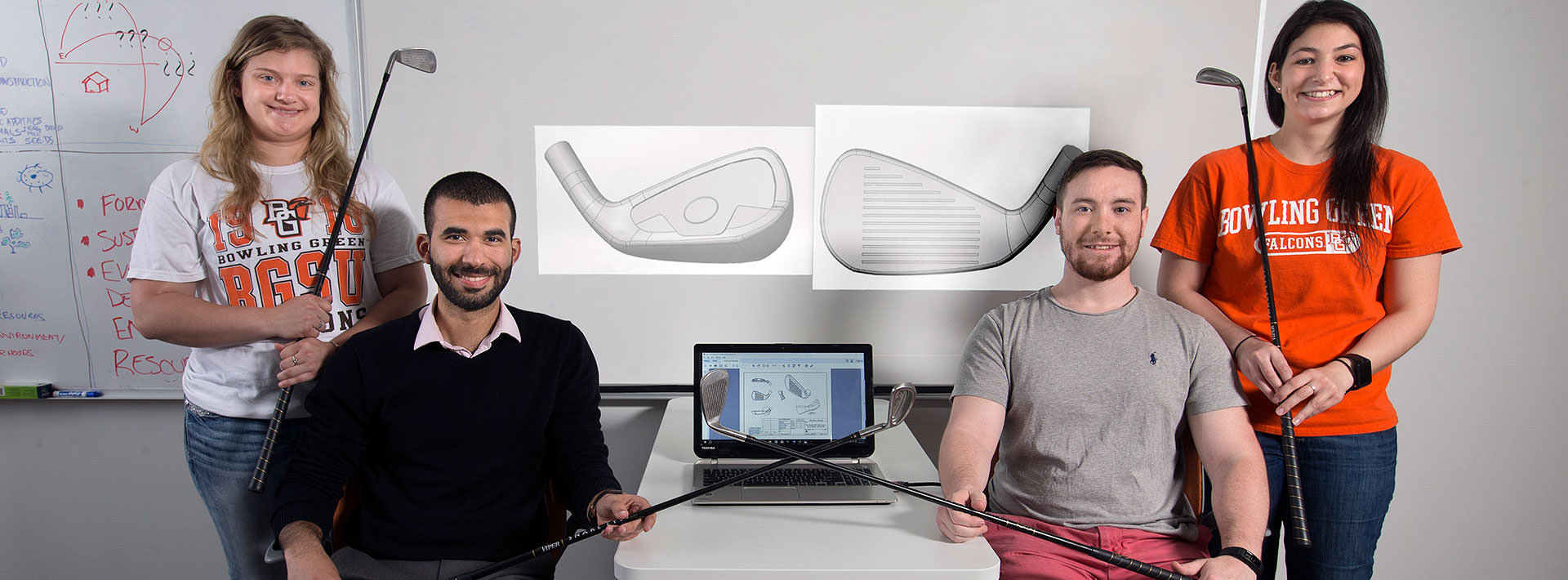 Students assist alumnus hoping to patent new golf clubs