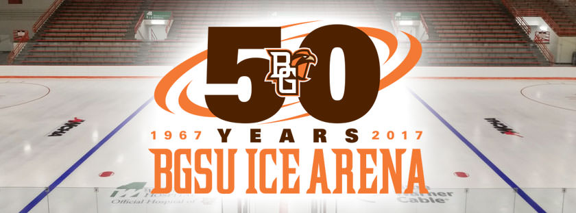 Celebrate the BGSU Ice Arena's 50th Anniversary! Friday, Feb. 10 - Sunday, Feb. 12.