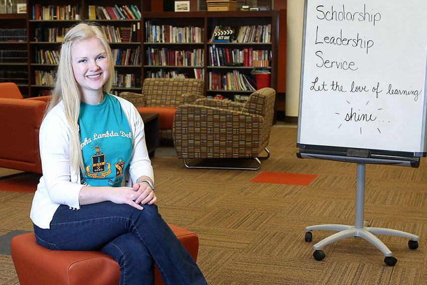 Sarah Hercules is making the most of her BGSU experience