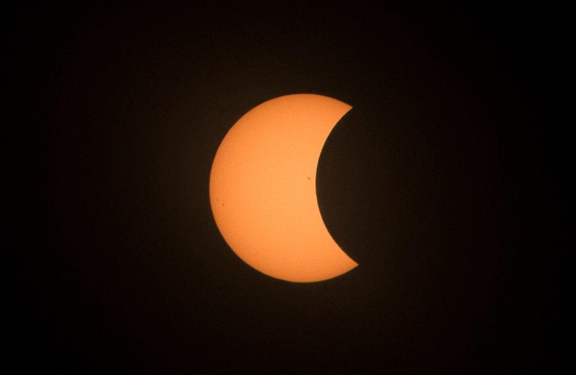 solar eclipse close up