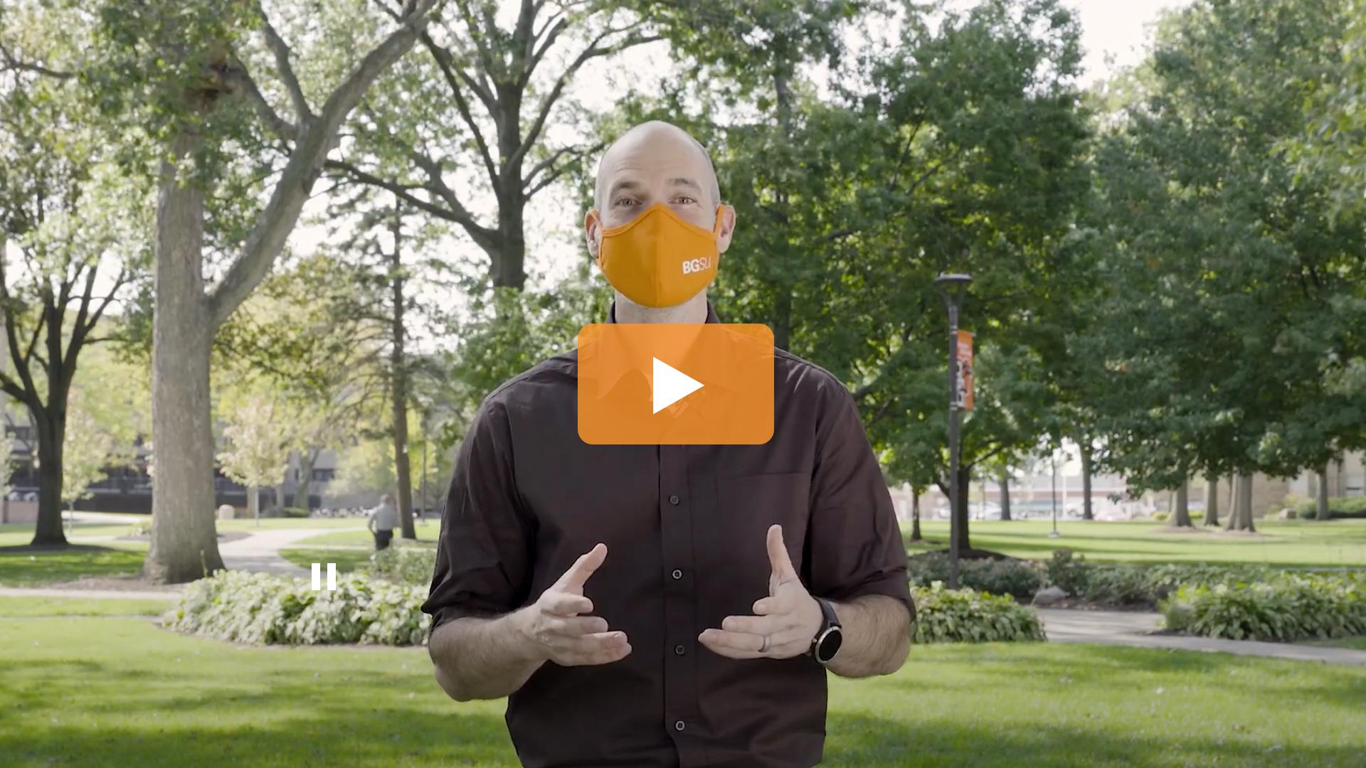 Watch BGSU Chief Health Officer Ben Batey's October 7 Video Update