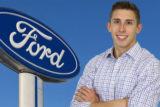 Driven for Ford; Automaker steers Clayton Stewart '12 into 'Thirty Under 30' group