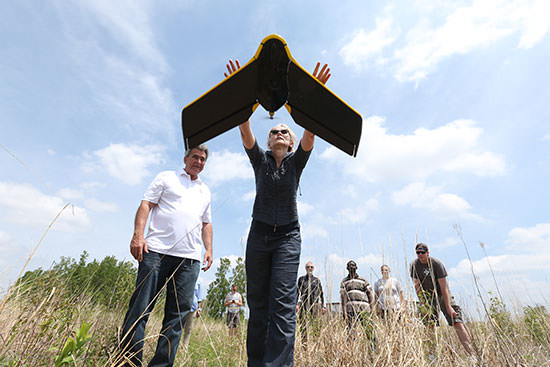 Faculty and students research drones and remote sensing