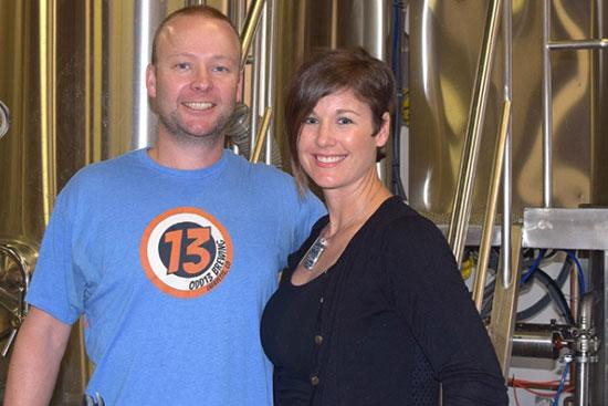 GSU alumni Ryan and Kristin Scott are proud proprietors of Odd13 Brewing Co.
