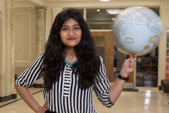 International student Sanjhi Gandhi takes advantage of opportunities at BGSU