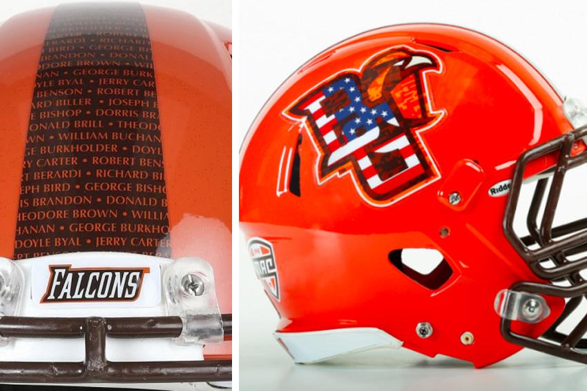 BGSU Football helmet ranked most patriotic in the country