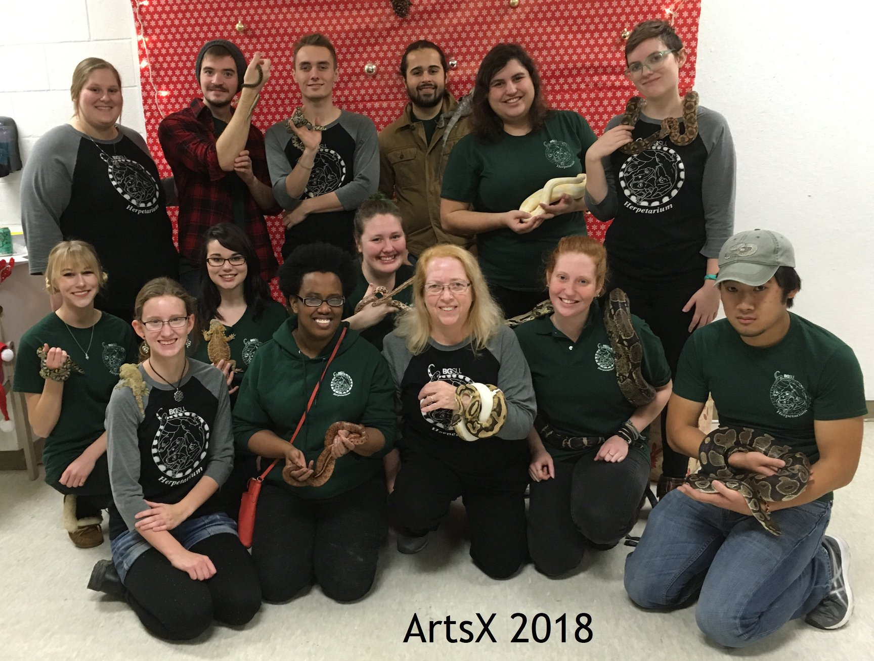 Herpetology students join with art students at ArtsX 2018