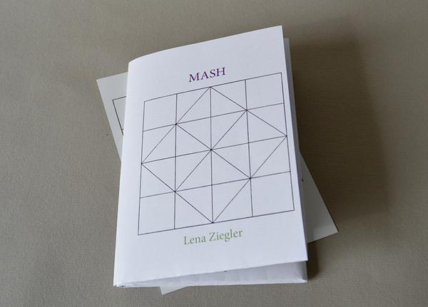 The cover of Lena's chapbook, MASH