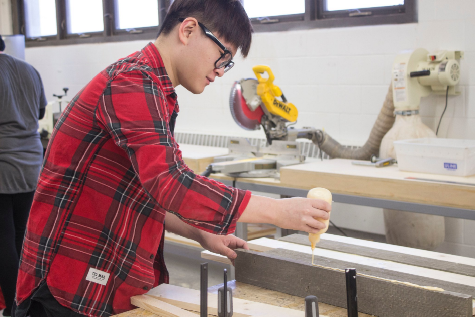 Student In Woodshop