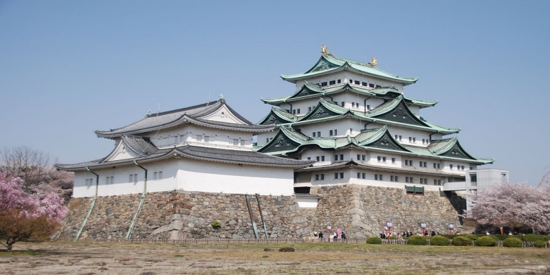 Nagoya Castle Tower in the Spring