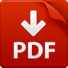 PDF icon with large red PDF text across gray outlined page