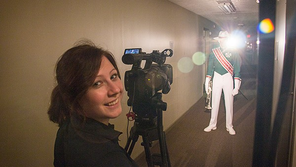 Lee-Ann Hall filming on the job at DCI