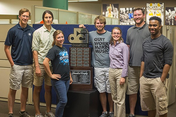 DCI Live Team with Founder's Trophy