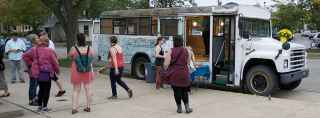 BGSU to host mobile gallery: Blue Onion Bus