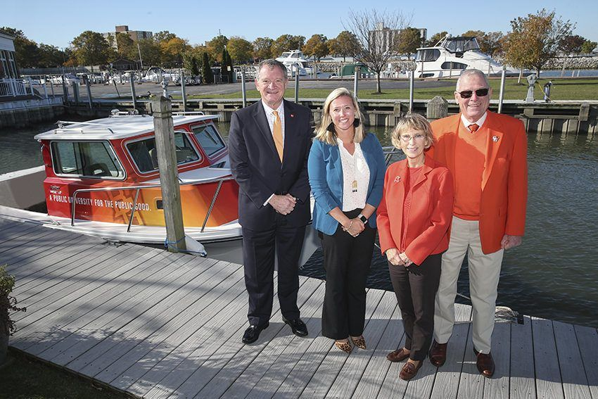 BGSU christens new research vessel, 'RV Ziggy'