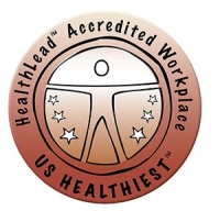 HealthLead Accredited Workplace US Healthiest Bronze Logo