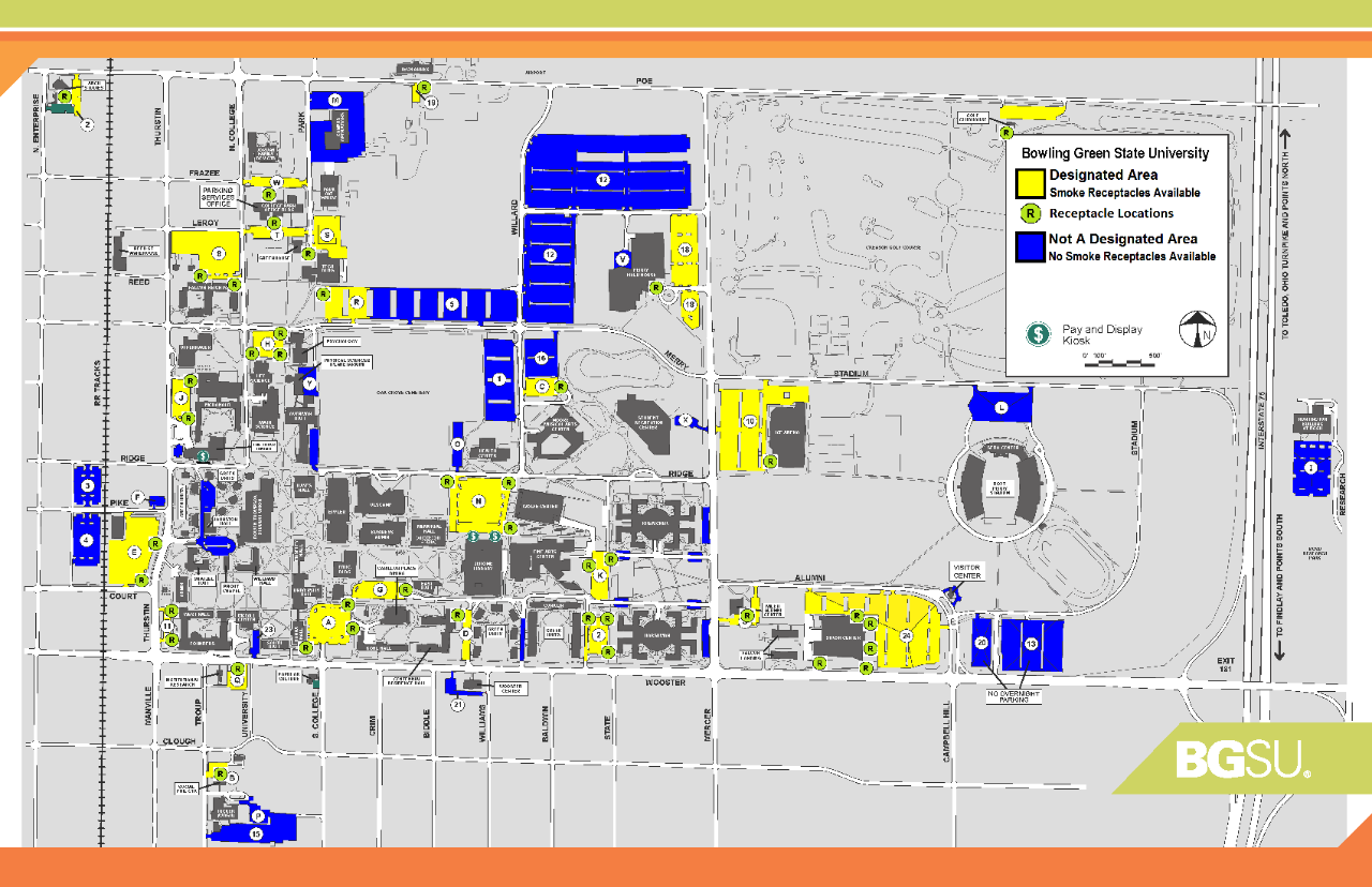 Main Campus Receptacle Locations