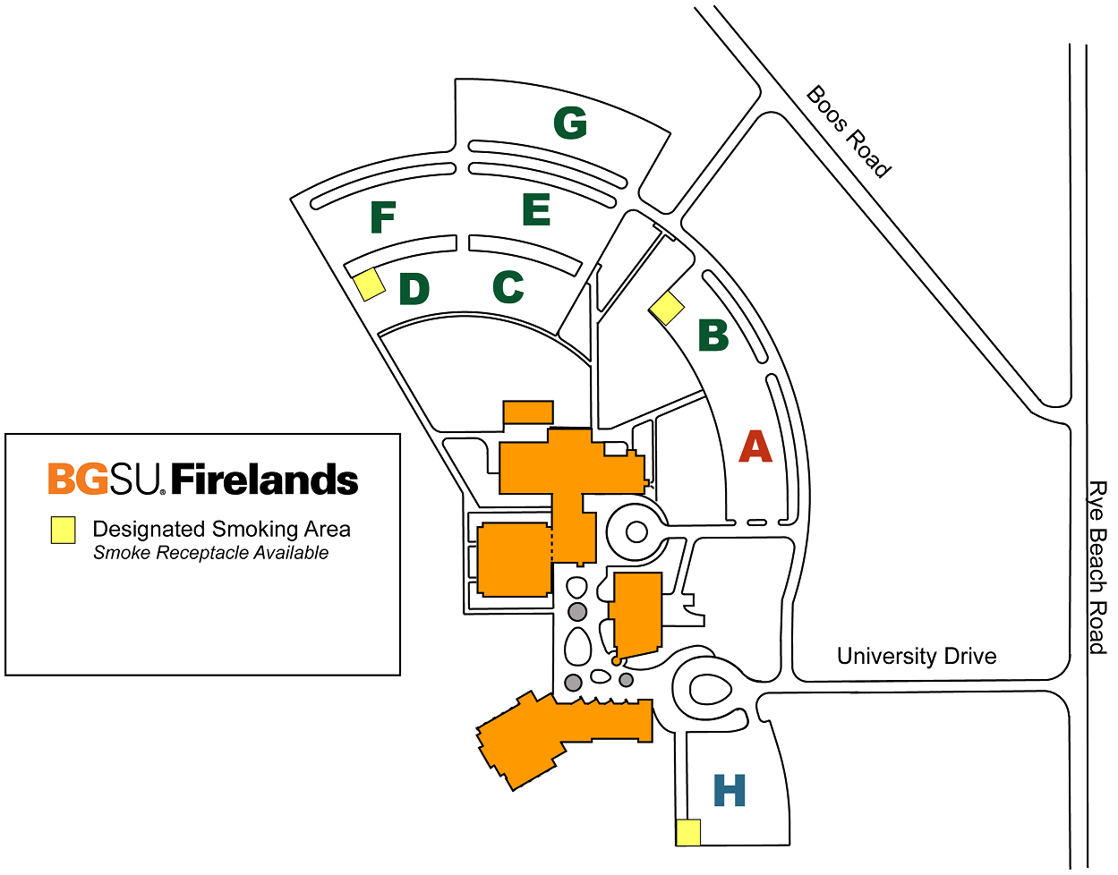 Firelands Campus Receptacle Locations