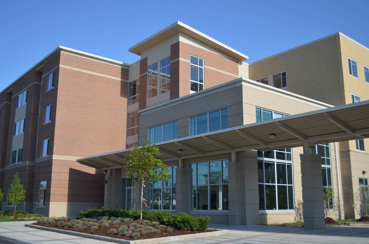 Exterior Image of Falcon Heights on a sunny day.