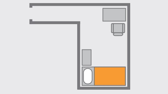 Drawing of the Single Room Layout