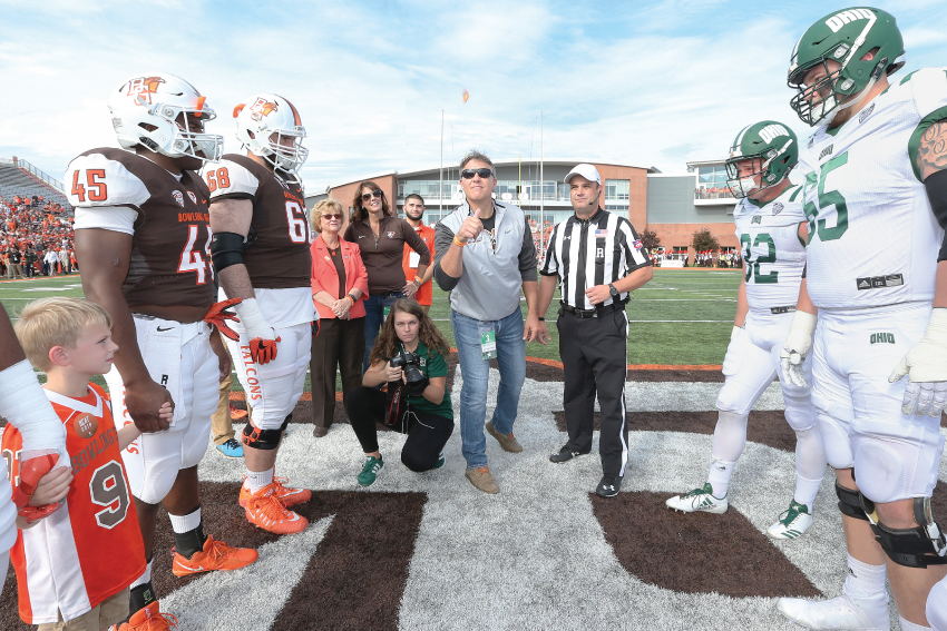 Jay Crawford is giving back to his alma mater, BGSU