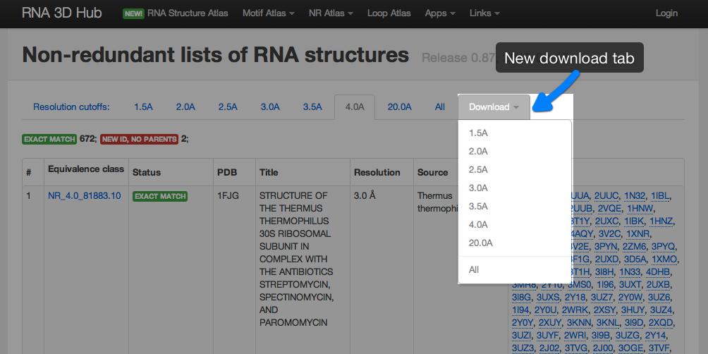 BGSU RNA site Help