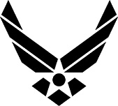 Air Force Logo - Black, no text
