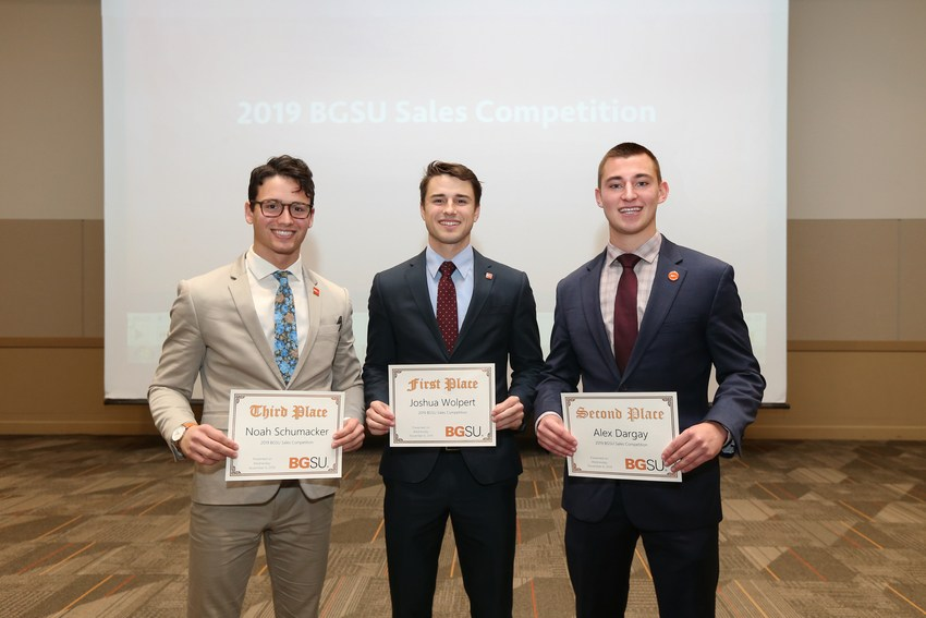 Winners of the BGSU Sales Competition Announced