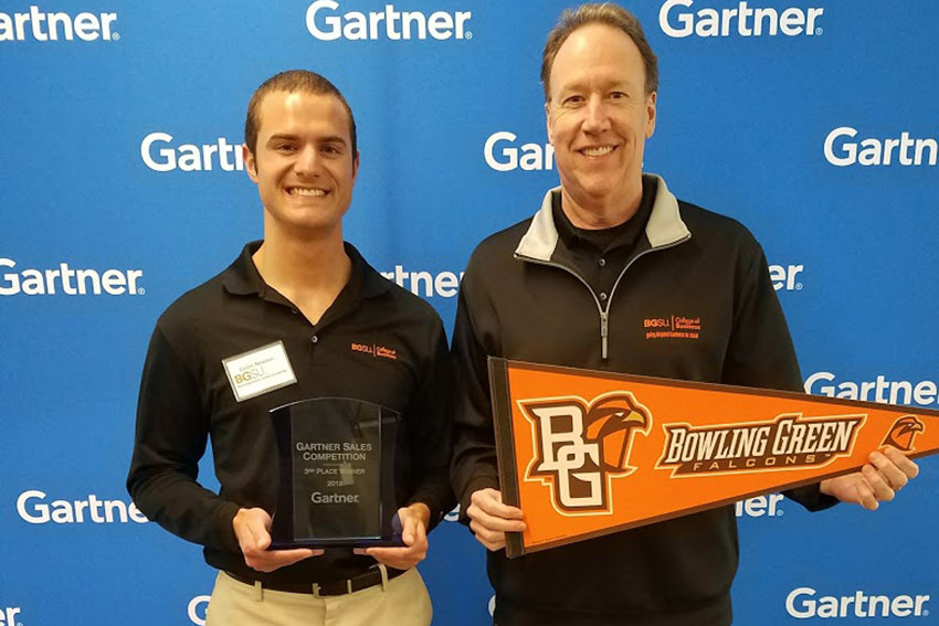 Senior earns 3rd place in Gartner National Sales Competition