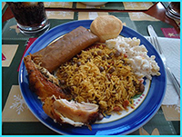 in puerto rico a certain type of platter is served during christmas time this plate usually consists of pork accompanied by rice and pigeon peas - Puerto Rican Christmas Food