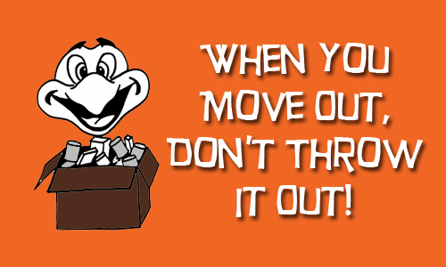 When You Move Out, Don't Throw It Out