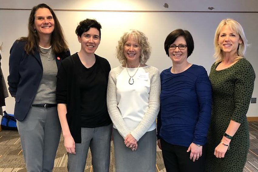 photo of Wendy Manning, Jessica Hardie, Kathleen Mullen Harris, Andrea Willson, and Kelly Balistreri