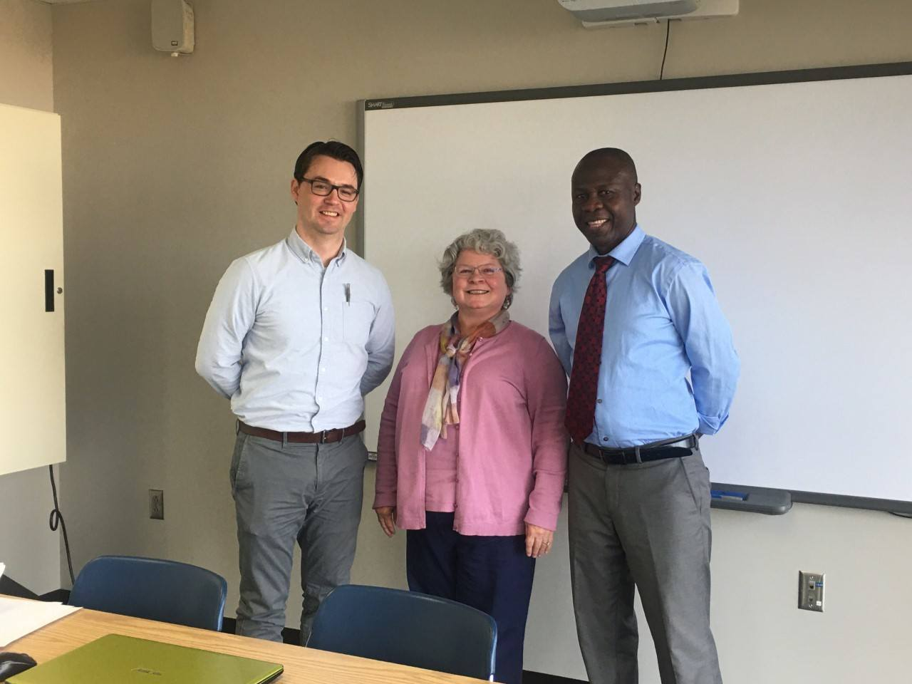 Stephen Ohene-Larbi with Dan Bommarito and Sue Wood