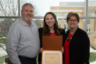 Shannon Cleary was inducted into BGSU's Kappa Tau Alpha honorary society.