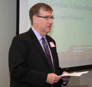The Jim Gordon Scholarship is presented by Jim's son, Kevin Gordon.