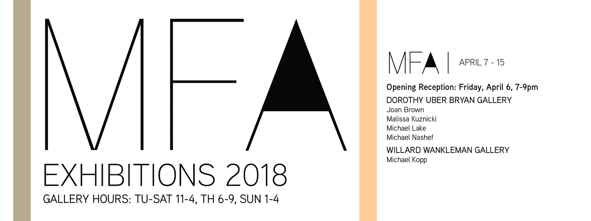 CONGRATULATIONS MFA EXHIBITORS