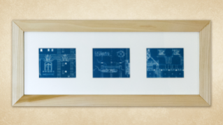 Hotel Secor Blueprint Triptych
