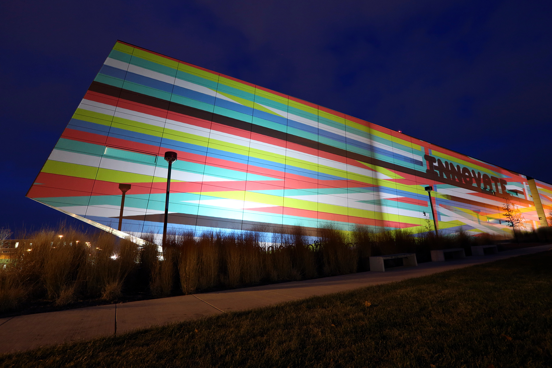 Wolfe Center in Lights
