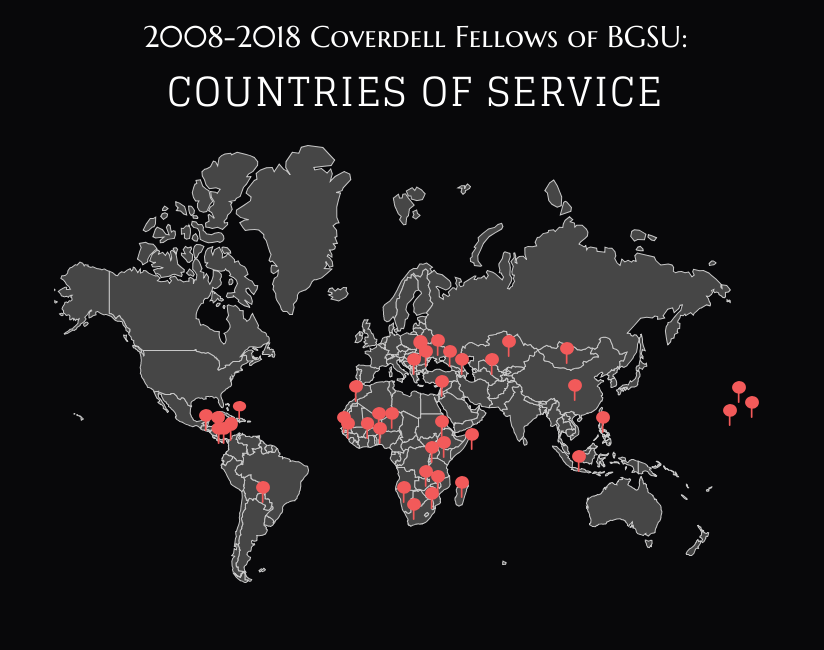 Peace Corps Fellows Service Locations