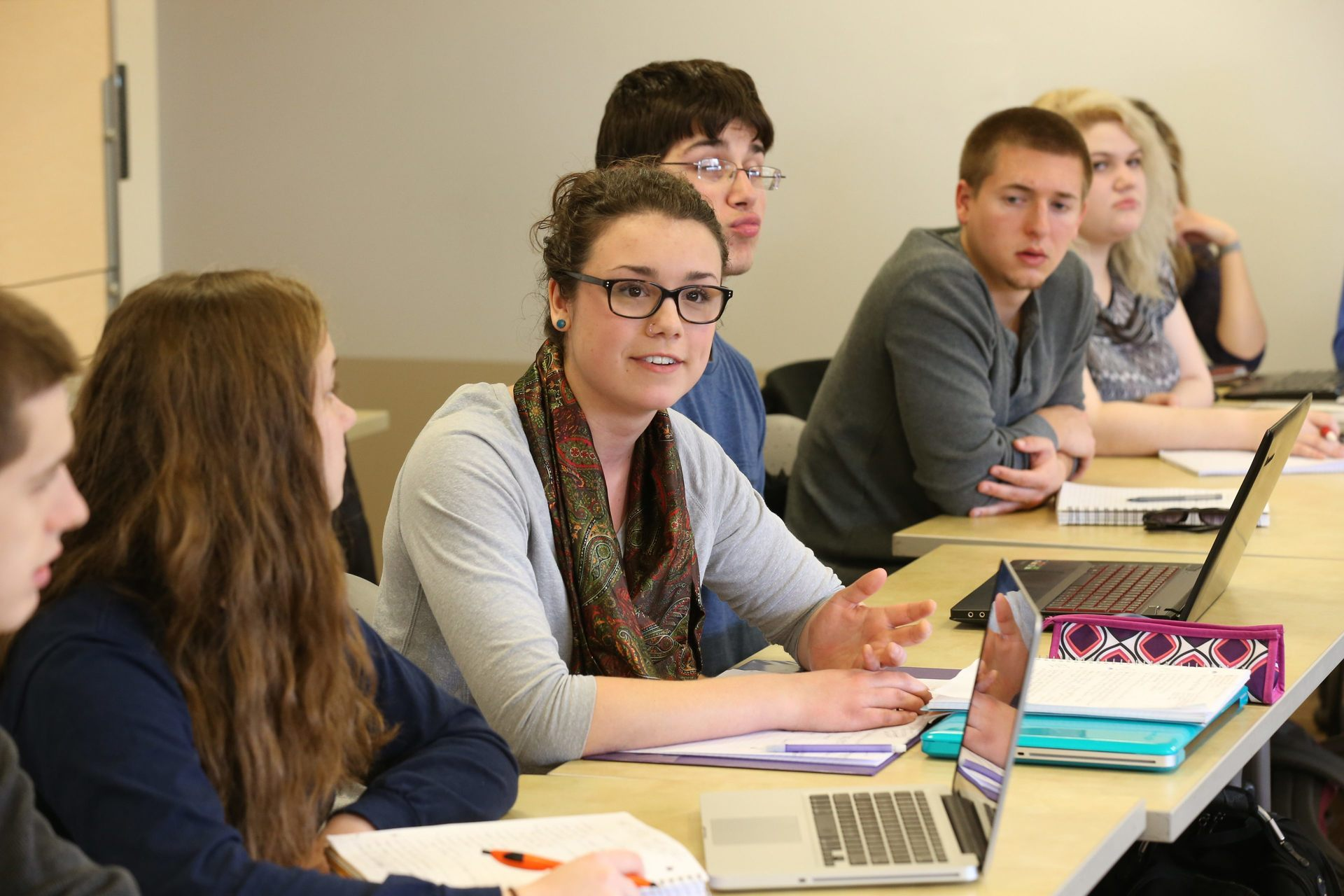 A BGSU graduate class discussing subjects with diverse colleagues is often the most valued form of learning.