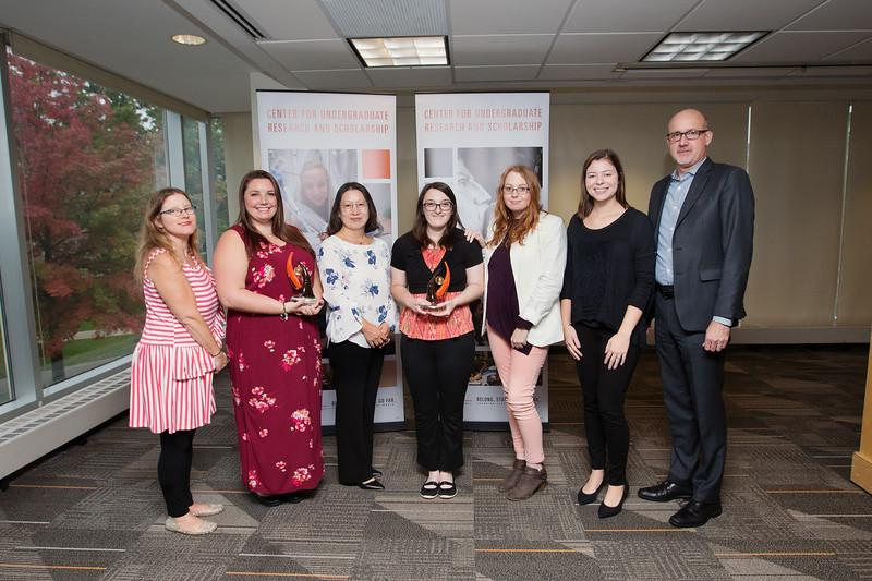 Health and Human Services students honored by The Center for Undergraduate Research and Scholarship (CURS)