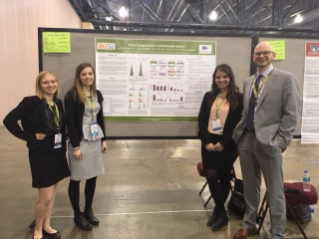 Tarynn Clune, Anna Gravelin, Cassidy Quinlan, and Dr. Whitfield at ASHA 2016