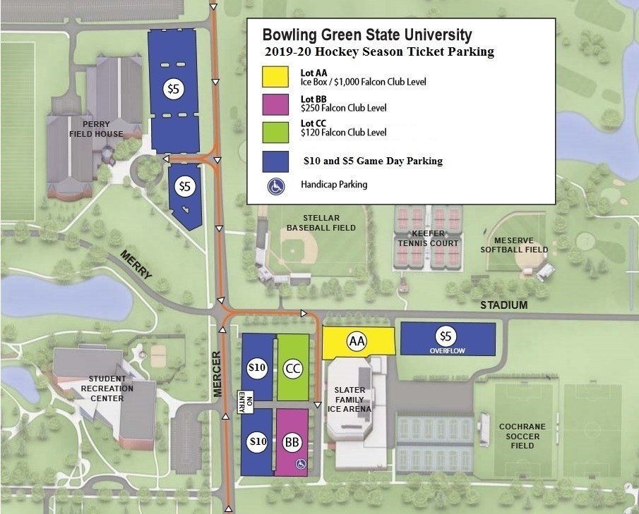 bowling green state university campus map Parking And Traffic bowling green state university campus map