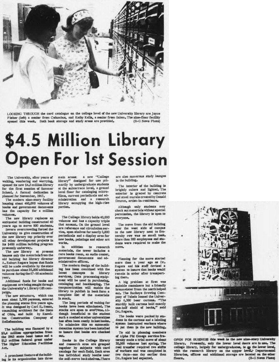 4.5 Million Dollar Library Open for 1st Session